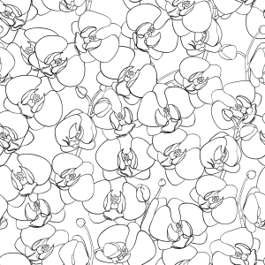Picture no: 9014412 Orchideen Ozean Created by: patterndesigns-com