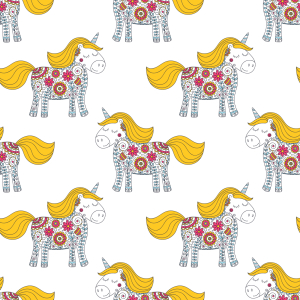 Picture no: 9014429 Flowerpower Einhorn Created by: patterndesigns-com