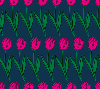 Picture no: 9014471 Tulpen Reihen Created by: patterndesigns-com