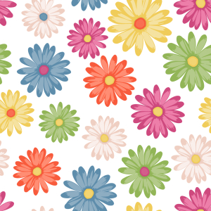 Picture no: 9014524 Farbenfrohe Gänseblümchen Created by: patterndesigns-com