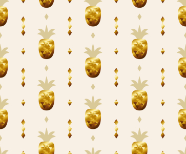 Picture no: 9014618 Goldene Ananas Created by: patterndesigns-com