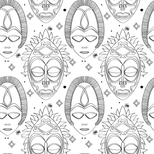 Picture no: 9014658 Göttermasken Created by: patterndesigns-com