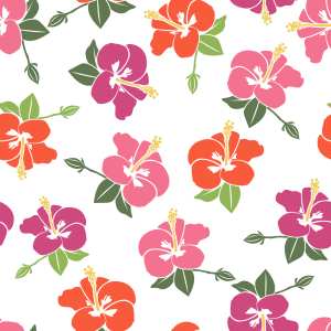 Picture no: 9014699 Romantische Hibiskus Blüten Created by: patterndesigns-com
