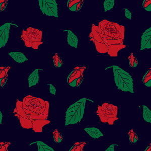 Picture no: 9014717 Rosen Blüten und Knospen Created by: patterndesigns-com