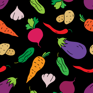Picture no: 9014787 Farbenfrohe Veggies zu Tisch Created by: patterndesigns-com