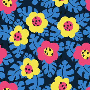 Picture no: 9014858 Fensterblatt-Blüten Created by: patterndesigns-com