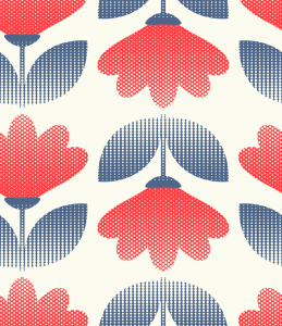 Picture no: 9014895 Gepunktete Retro Blumen Created by: patterndesigns-com