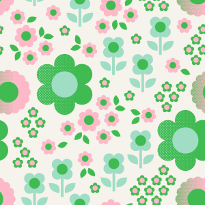 Picture no: 9014915 Halbton Retro Blumen Created by: patterndesigns-com