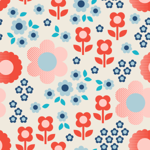 Picture no: 9014916 Halbton Blumen Created by: patterndesigns-com