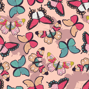 Picture no: 9014928 Feminine Schmetterlinge Created by: patterndesigns-com
