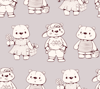 Picture no: 9014932 Schicke Teddybären Created by: patterndesigns-com
