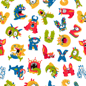 Picture no: 9014933 Monster-Alphabet Created by: patterndesigns-com