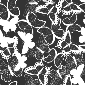 Picture no: 9014960 Monochrome fliegende Schmetterlinge Created by: patterndesigns-com