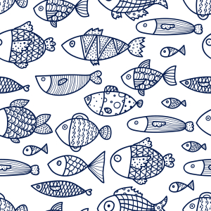 Picture no: 9014964 Skizzierte Fische Created by: patterndesigns-com
