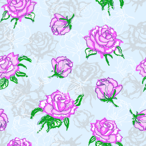 Picture no: 9014978 Rosen Silhouetten Created by: patterndesigns-com
