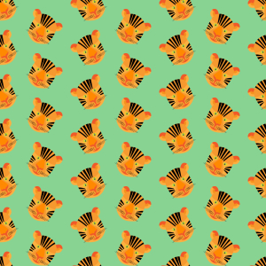 Picture no: 9015035 Gesicht eines Tigers Created by: patterndesigns-com