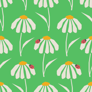 Picture no: 9015100 Gänseblümchen-Schirme Created by: patterndesigns-com