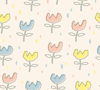 Picture no: 9015148 Blümchen Im Regen Created by: patterndesigns-com