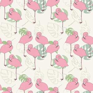 Picture no: 9015206 Flamingos und tropische Blätter Created by: patterndesigns-com