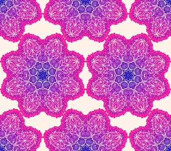 Picture no: 9015213 Leuchtende Mandala Blumen Created by: patterndesigns-com