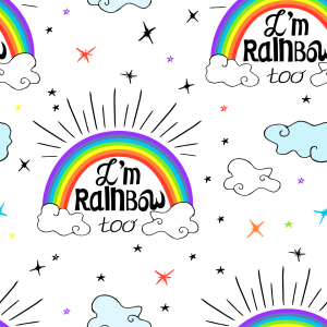 Picture no: 9015257 Ich bin Regenbogen Created by: patterndesigns-com