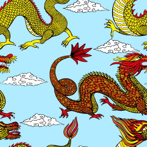 Picture no: 9015258 Asiatische Drachen Created by: patterndesigns-com