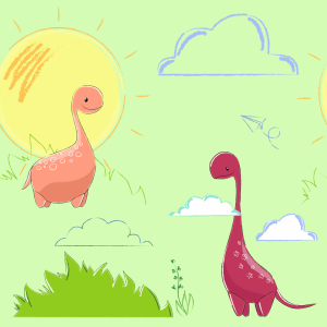 Picture no: 9015361 Liebliche Dinosaurier Created by: patterndesigns-com
