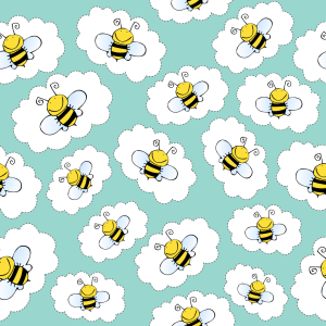 Picture no: 9015363 Fröhlicher Bienen Sticker Created by: patterndesigns-com