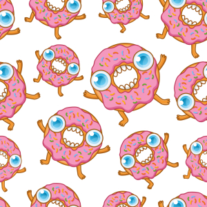 Picture no: 9015416 Hungrige Karikatur Donuts Created by: patterndesigns-com