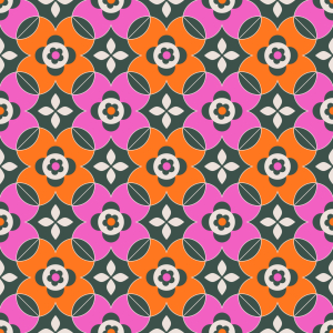 Picture no: 9015457 Auffällige Retro-Blumen Created by: patterndesigns-com