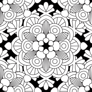 Picture no: 9015483 Blumen-Mandala Created by: patterndesigns-com