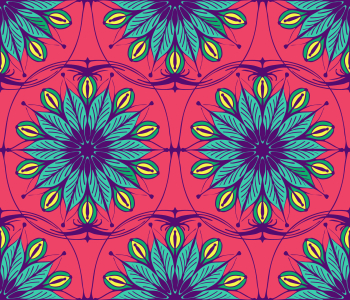 Picture no: 9015491 Stilisierte verzierte Blumen Created by: patterndesigns-com