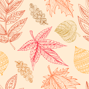 Picture no: 9015507 Dekorative Herbstblätter Created by: patterndesigns-com