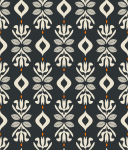 Picture no: 9015516 Florale Retro Silhouetten Created by: patterndesigns-com