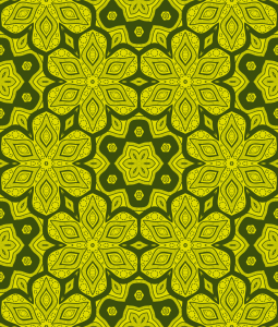 Picture no: 9015521 Floral in Sechsecken Created by: patterndesigns-com