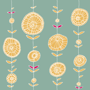 Picture no: 9025411 Blumenkette Gelb Created by: patterndesigns-com