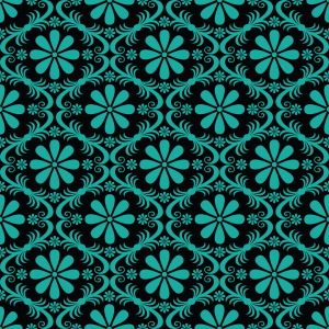 Picture no: 9025522 Überall Türkise Blumen Created by: patterndesigns-com
