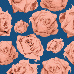 Picture no: 9025697 Art Rose Blau Created by: patterndesigns-com