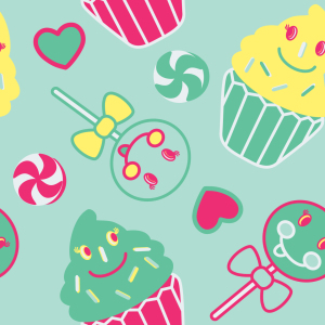 Picture no: 9025861 Happy Desserts Mint Created by: patterndesigns-com