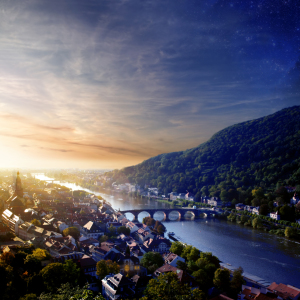 Picture no: 9610666  Heidelberg and Neckar in Sunset Created by: Zuboff