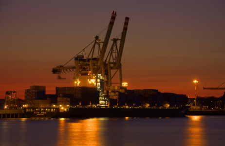 Picture no: 9637398 Hamburger Hafen am Abend Created by: Klaus Kehrls