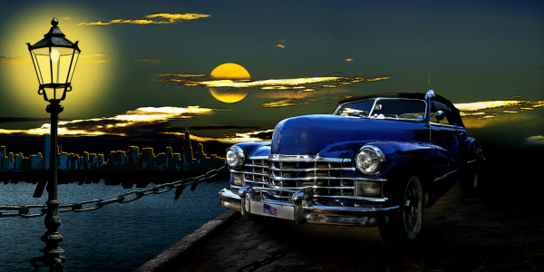 Picture no: 10002025 US Oldtimer in der Nacht Created by: Mausopardia