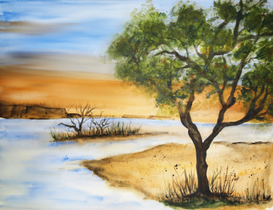 Picture no: 10009687 Landscape - Aquarell Created by: Galerie-Fotoeffekt