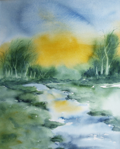 Picture no: 10021405 Landschaft - Aquarell Created by: Galerie-Fotoeffekt