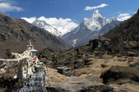 Picture no: 10052083 Ama Dablam Blick Created by: Gerhard Albicker