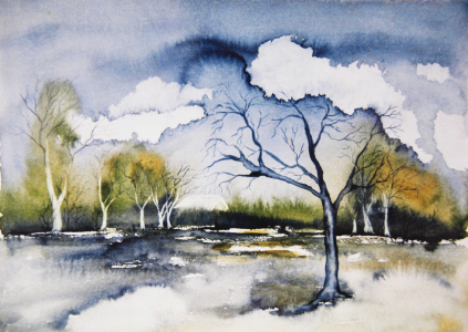 Picture no: 10093126 Landschaft Aquarell Created by: Galerie-Fotoeffekt