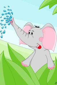 Picture no: 10131996 Elefant aus der Tier-Serie Created by: Michaela Heimlich