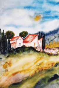 Picture no: 10148410 Landscape - Aquarell Created by: Galerie-Fotoeffekt