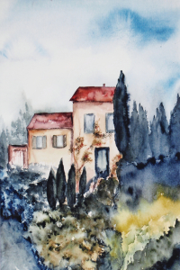 Picture no: 10148416 Landschaft Aquarell Created by: Galerie-Fotoeffekt