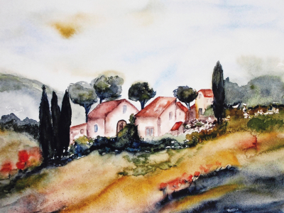 Picture no: 10148418 Landschaft Aquarell Created by: Galerie-Fotoeffekt